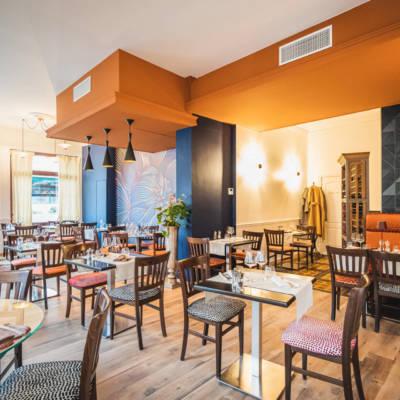 Le restaurant la Table des Halles à Reims change de décor. Réalisation Christel Dubois - Crédit photo Alexis Attimont