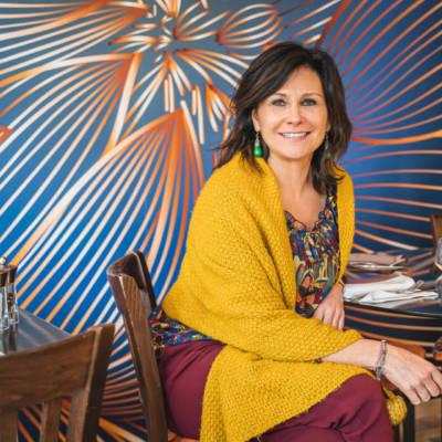 Christel Dubois décoratrice à Reims a réalisé la Table des Halles à Reims