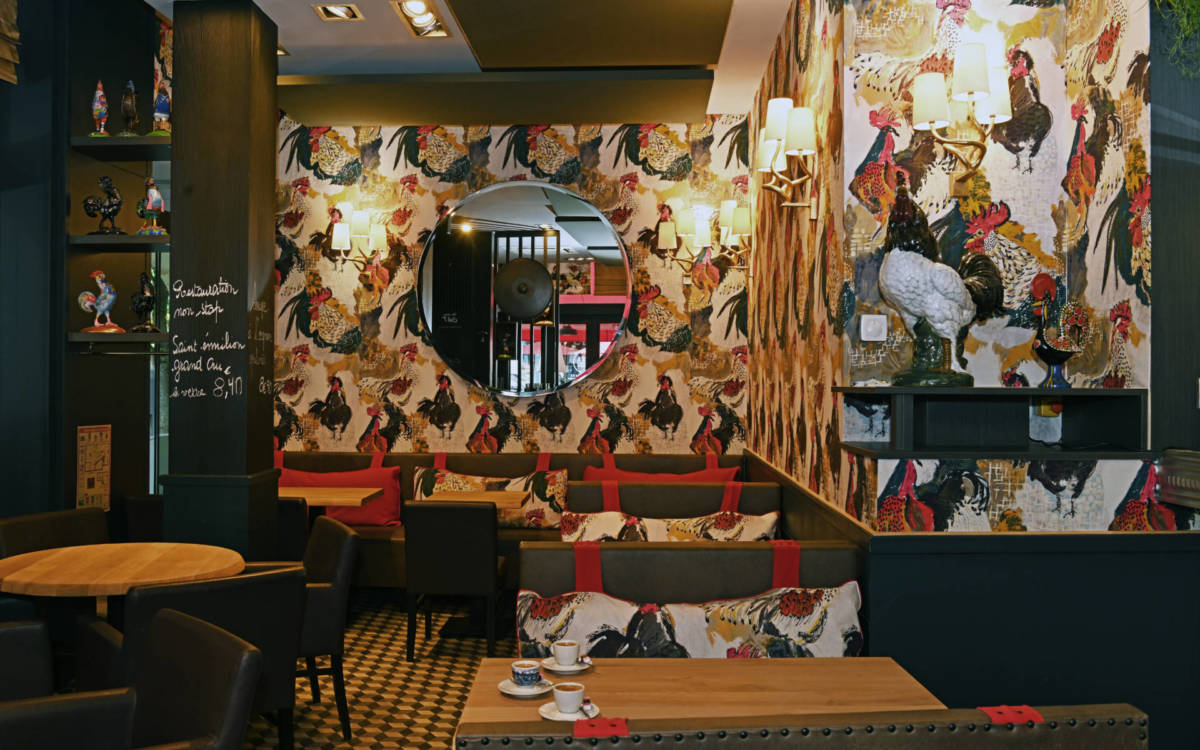 restaurant le Gaulois, Christel Dubois OSEZ décorer, décoratrice Reims UFDI