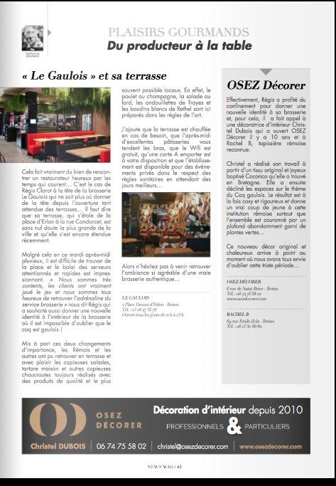 Cocorico dans les pages de New's Mag